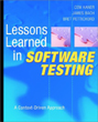 Lessons Learned in Software Testing book cover